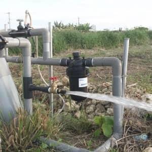 井戸ポンプの試運転
