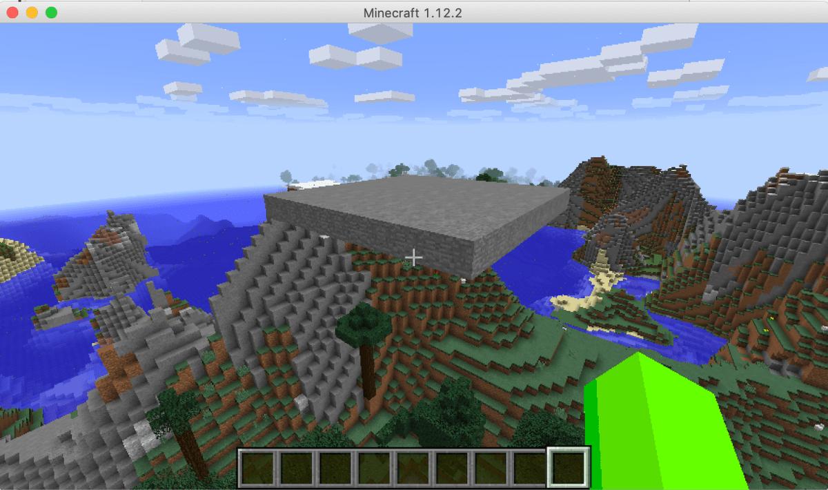 空中に空き地を作るPythonプログラムを実行した結果