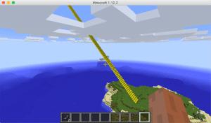 雲の上まで突き抜ける階段をPythonプログラムで作った。マインクラフト