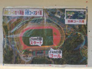 西原町新春マラソン大会2kmコース図